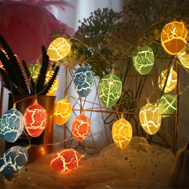 3 متر 20 أسلاك إضاءة للأماكن الخارجية عيد الفصح زينة للمنزل عيد الفصح البيض LED سلسلة ضوء الربيع عيد الفصح حديقة ديكور المنزل مهرجان