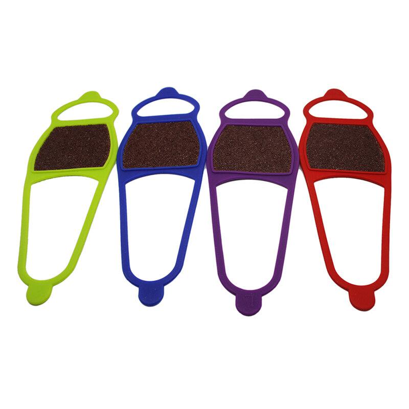 1 قطعة غطاء حذاء التزلج عدم الانزلاق سيليكون الوجهين جلخ القماش الأشرطة في الهواء الطلق الثلوج عدم الانزلاق غطاء حذاء لون عشوائي