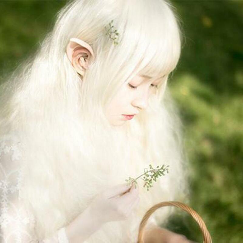 غامض الملاك Elf آذان اللاتكس آذان ل الجنية تأثيري حلي اكسسوارات هالوين الديكور صور الدعائم الكبار الاطفال اللعب