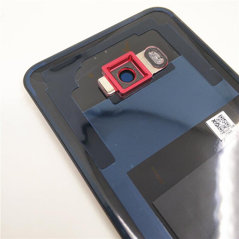 الأصلي غطاء البطارية ل HTC U11 U-3w W-1w مع كاميرا زجاج عدسة الباب الخلفي الإسكان الغطاء الخلفي مع شعار