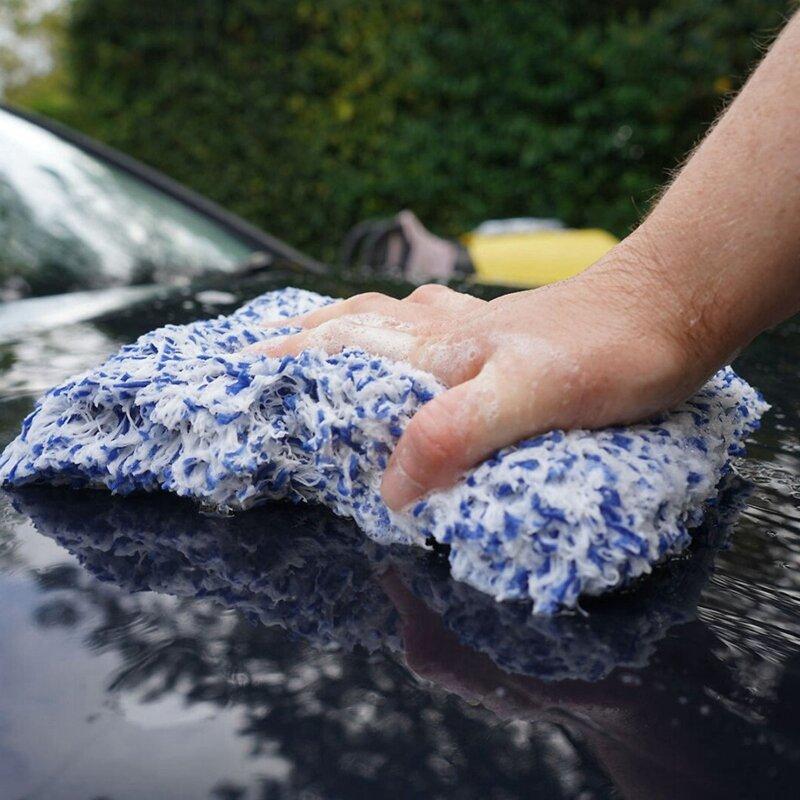 قفازات العناية بالسيارات الجديدة ، قفاز غسيل من الألياف الدقيقة الناعمة ، 2 قطعة