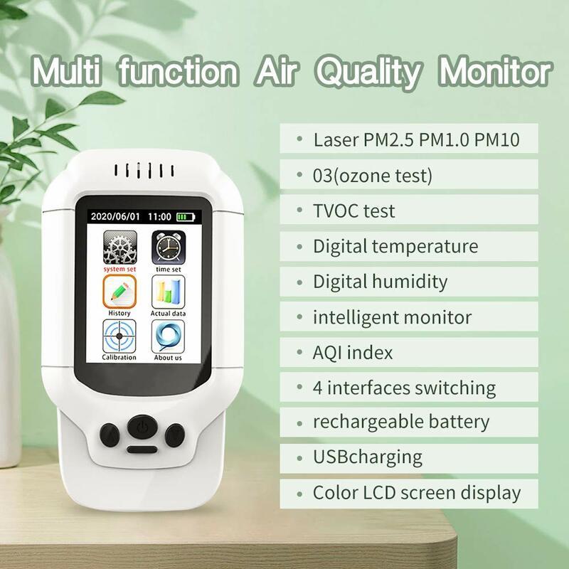 مستشعر مراقبة جودة الهواء الداخلي ، HCHO/الفورمالديهايد TVOC ، الجسيمات العضوية ، PM2.5 ، مؤشر AQI ، التلوث ، الرطوبة