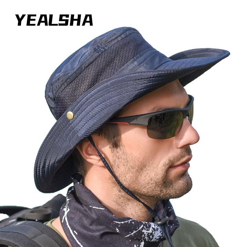 في الهواء الطلق الصيد تسلق الجبال قبعة الرجال الصيف قبعة الشمس قبعة الشمس قبعة الشمس الصيف صياد قبعة الرجال
