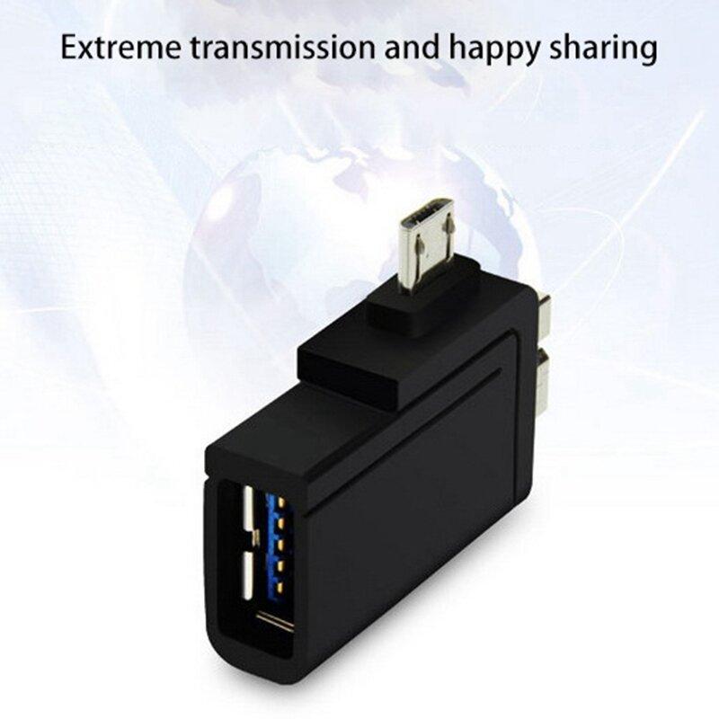 Micro-USB3.0/2.0 محول شبه موصل 2 في 1 وتغ محول للهواتف النقالة سامسونج و شاومي والأجهزة اللوحية