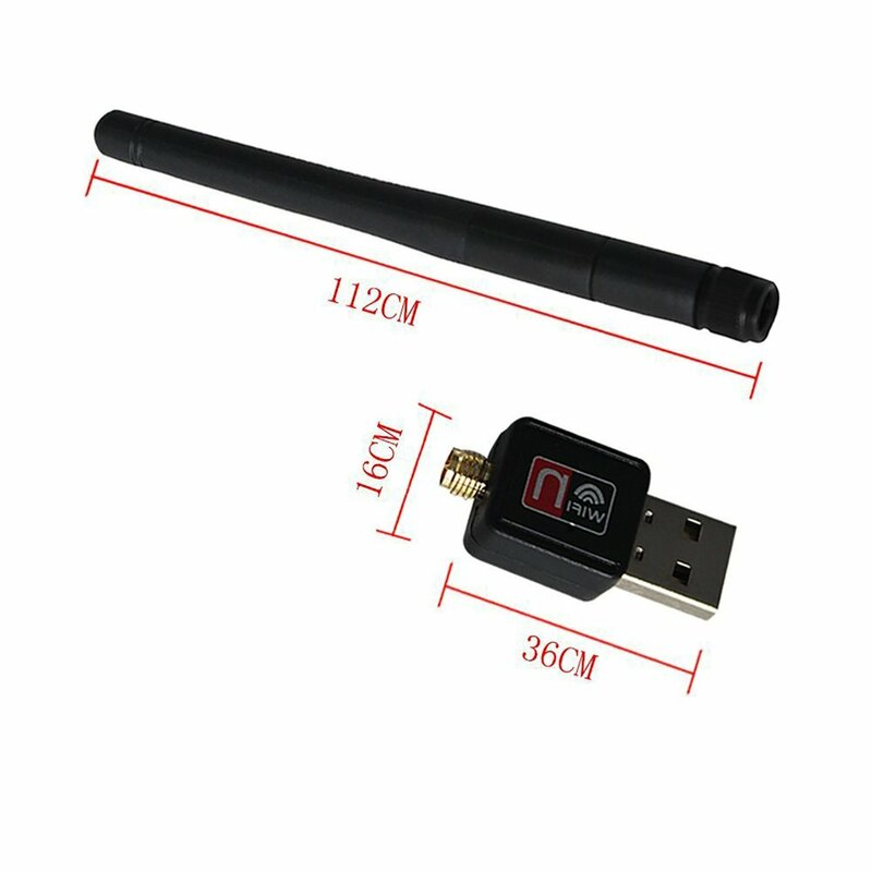 واي فاي محول محول USB لاسلكي 5.8GHz/2.4GHz ثنائي النطاق 600Mbps USB محول 2dBi الهوائيات الخارجية يدعم ويندوز XP