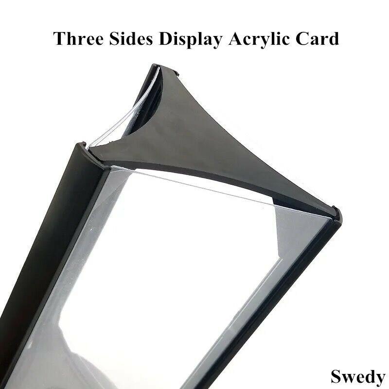 ثلاثة الجانب الدورية البلاستيك حامل علامة حامل صورة صورة الإعلان إطار عرض حامل قائمة الطاولة عرض موقف