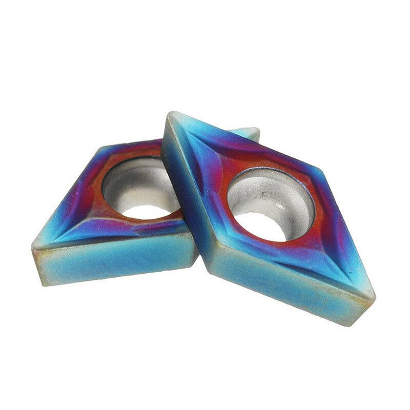 10 قطعة نانو الأزرق DCMT070204 كربيد إدراج ل SDNCN1010H07/SDNCN1212H07 تحول أداة مجموعة حامل مع صندوق