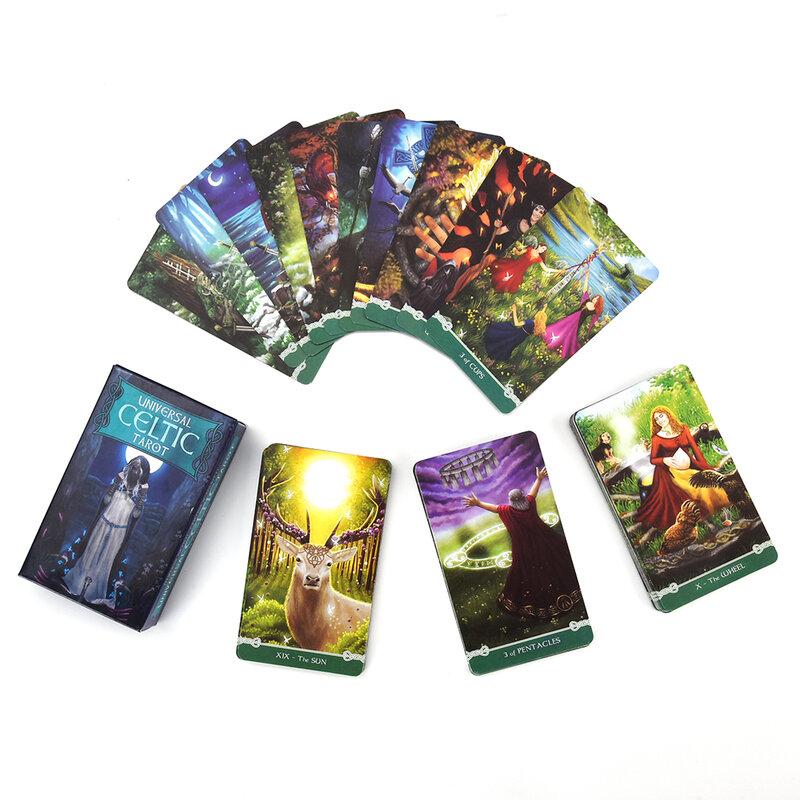 مجموعة بطاقات التارو Oracle Universal ، 78 قطعة ، بطاقات التارو مع دليل اللغة الإنجليزية الكامل ، بطاقات التارو والقدر للحفلات العائلية
