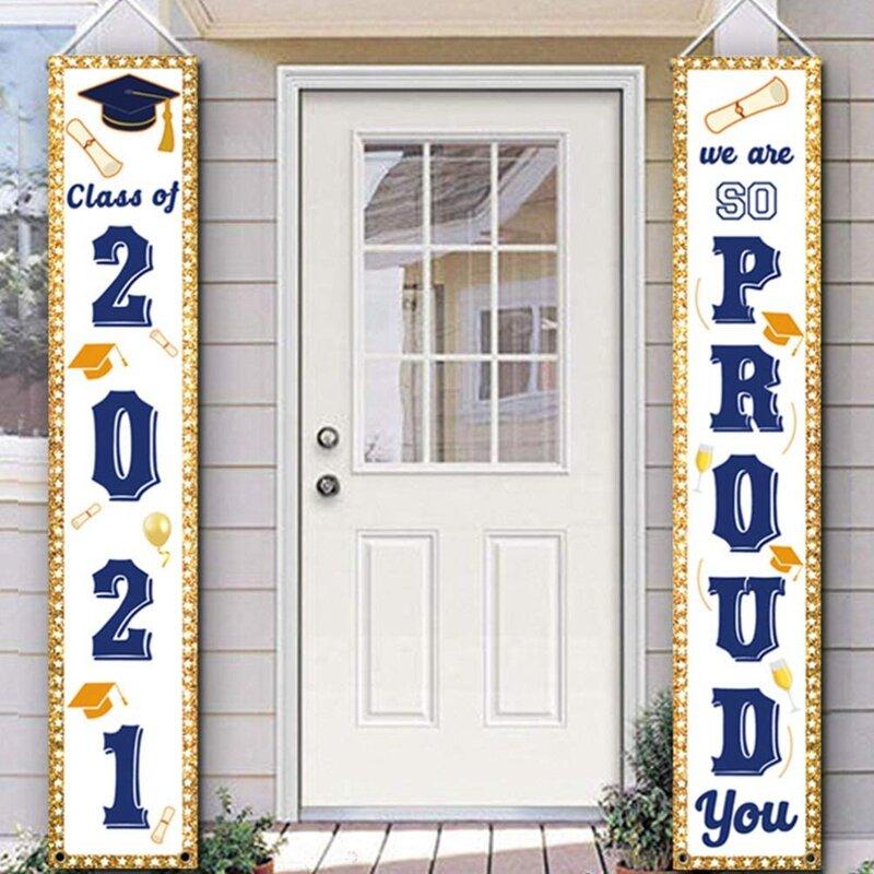 2 قطعة 2021 تخرج شرفة تسجيل التخرج تهنئة راية الديكور لحزب التخرج غراد زينة حفلات