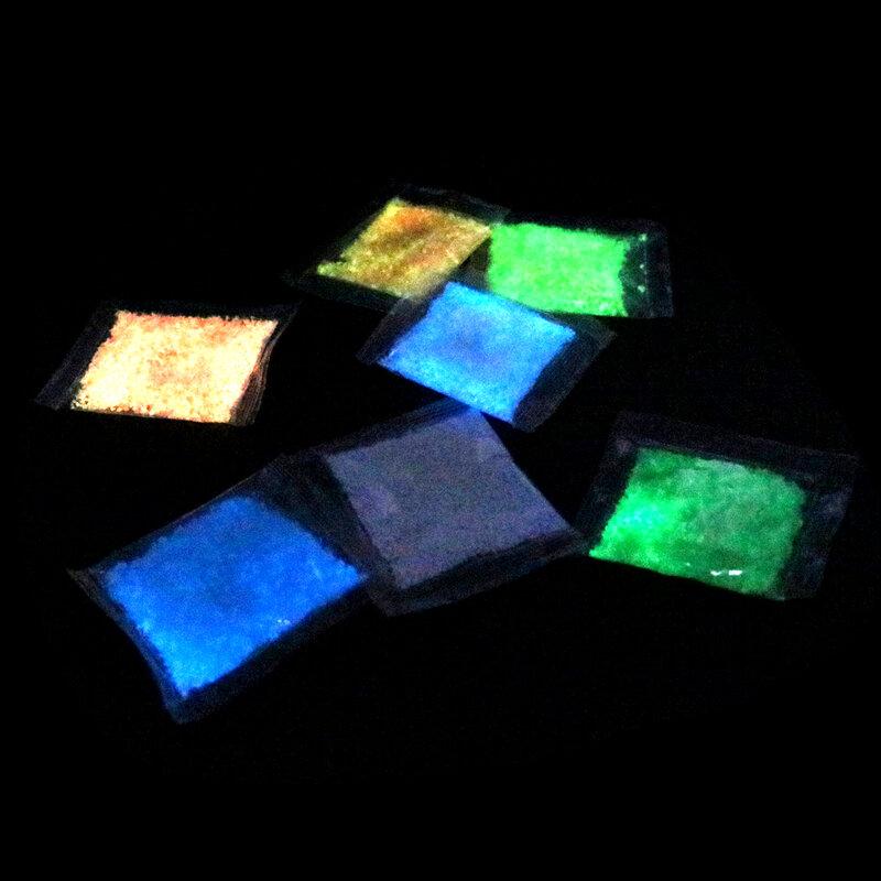 جديد مضيئة الجسيمات توهج الصباغ مشرق توهج الرمال الأزرق الفلورسنت السوبر الوهج في الظلام الرمال لعبة ل DIY متمنيا زجاجة