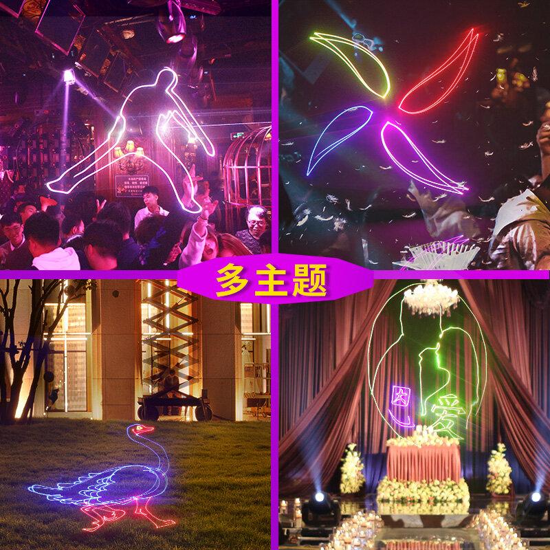 500MW مصباح إسقاط كامل اللون ليزر الرسوم المتحركة مصباح مصباح منصة عطلة تظهر الأداء ضوء بار KTV عالية الطاقة مصباح الليزر