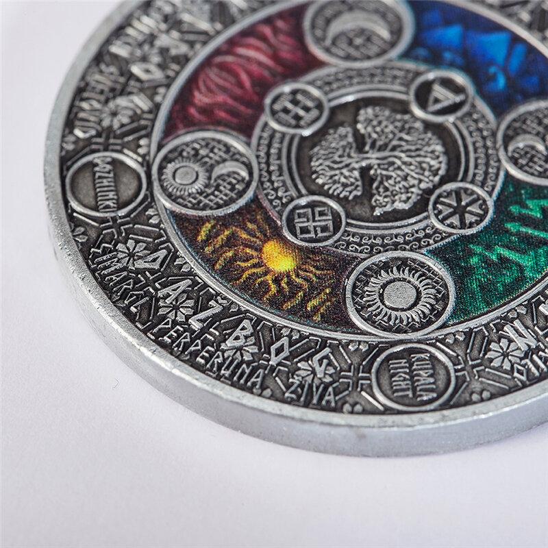 دروبشيبينغ نسخة عملة سوبر جميلة نيوي 2020 التقويم القديم 4 Cyrillic التقويم 2 أوقية عالية الإغاثة الفضة عملة