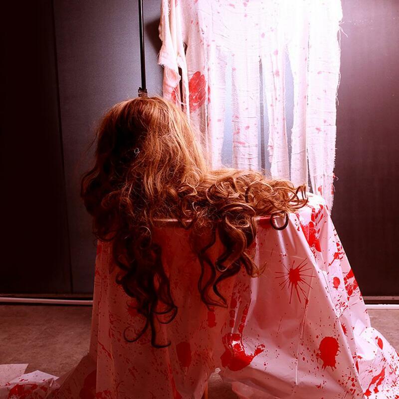 قماش ملون بالدم من الهالويين رائع عملي جذاب لشاش المائدة قابل للحمل لعام 80% للمهرجان