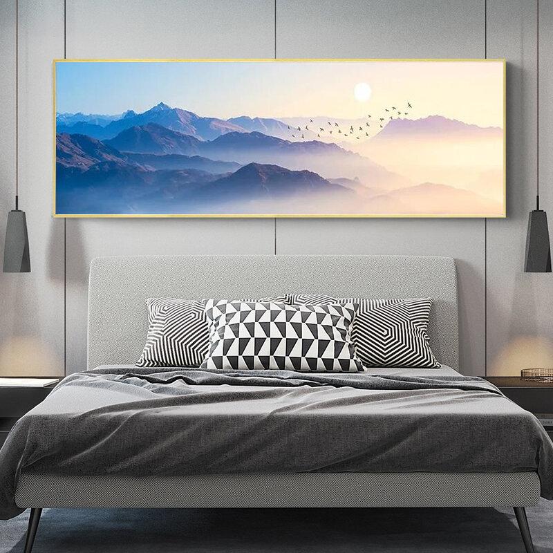 غروب الشمس الجبلية الطبيعية Brid يمكن المشهد مجردة قماش اللوحة الملصقات والمطبوعات جدار صورة فنية لغرفة المعيشة جدار