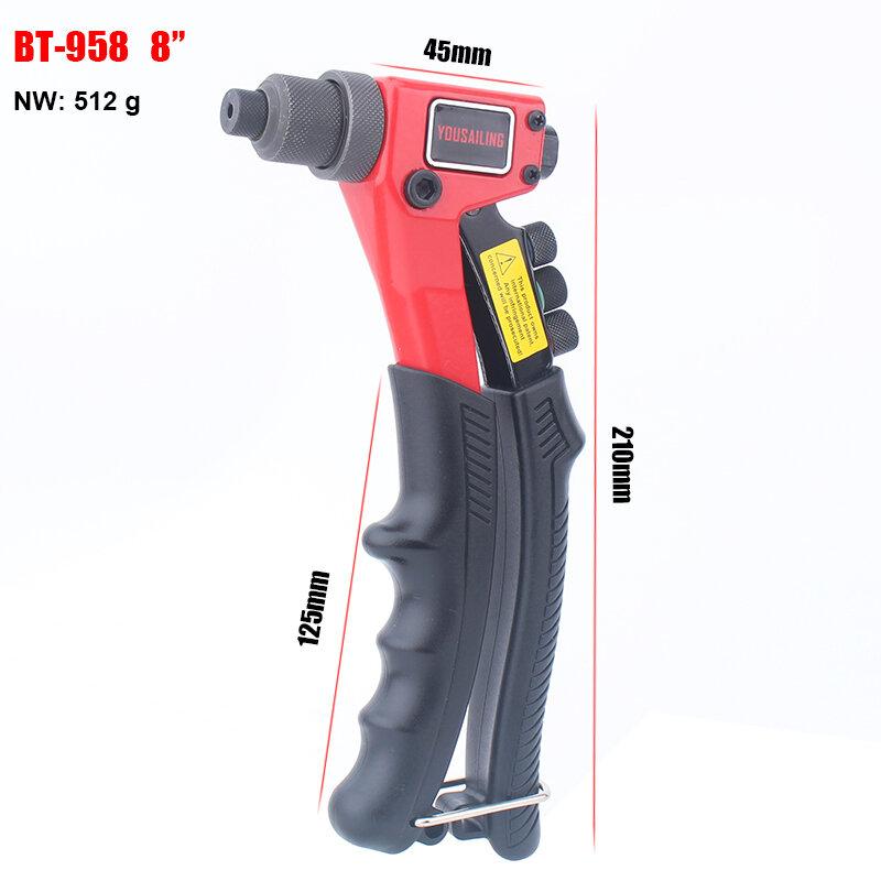 """8 """"(200 مللي متر) يد واحدة أعمى المبرشم دليل التثبيت أداة اليد المسامير بندقية Bt-958"""