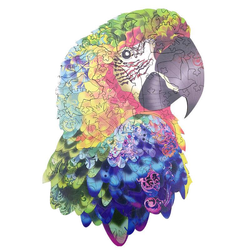 Feooe-أحجية خشبية على شكل طائر للكبار والأطفال ، حرف يدوية على شكل حيوان ، غامض ، ذئب ، هدية 2021 A5 A4 A3