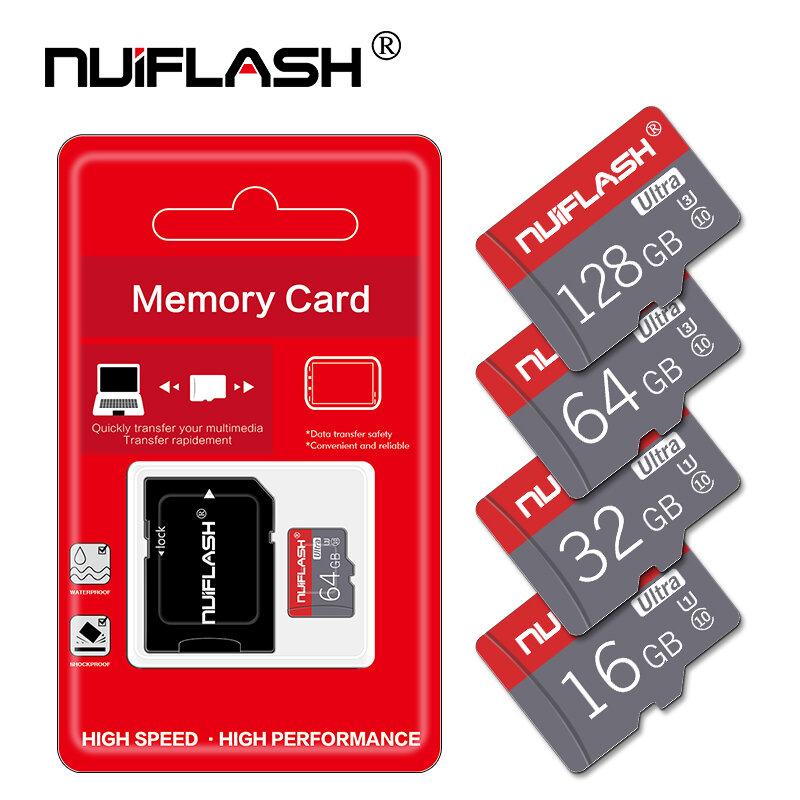 بطاقة Micro SD عالية السرعة ، 32 جيجابايت ، 16 جيجابايت ، 8 جيجابايت ، 64 جيجابايت ، 128 جيجابايت ، فئة 10 ، بطاقة ذاكرة TF ، محول مجاني