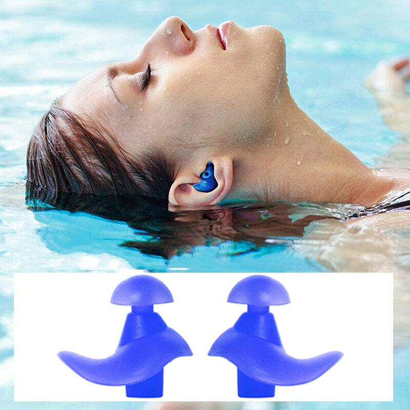 دوامة شكل الأذن المقابس سيليكون مقاوم للماء الغوص تصفح النوم مكافحة الضوضاء الغبار التوصيل المياه الرياضة حمام سباحة اكسسوارات