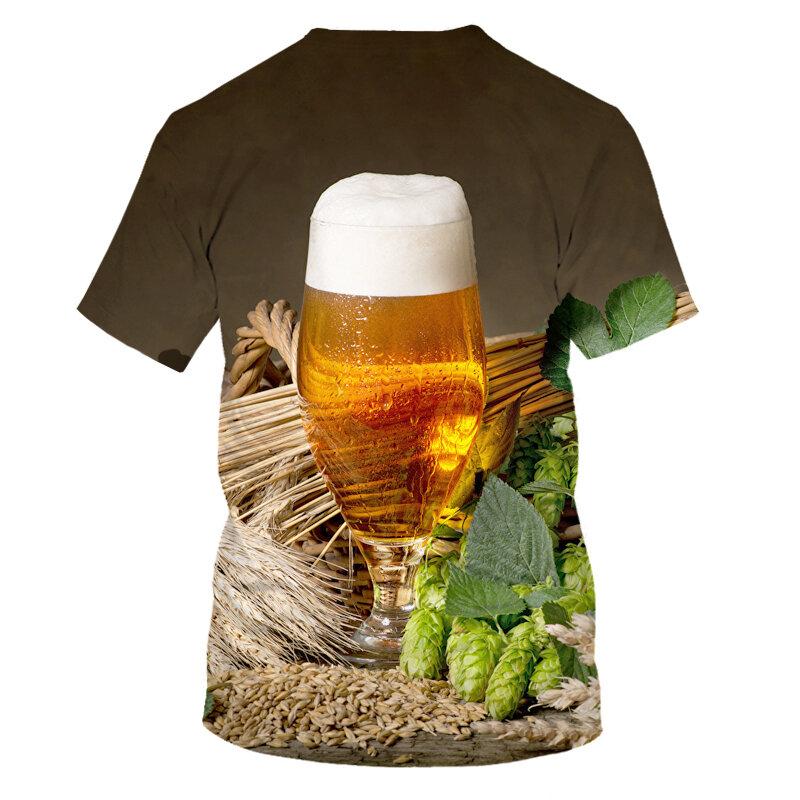 2020 الجدة ثلاثية الأبعاد تي شيرت الرجال علب من البيرة مطبوعة الهيب هوب Crewneck قمصان قصيرة الأكمام/المرأة تي شيرت تي شيرت بالجملة