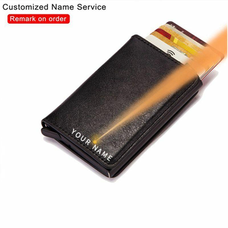 النقش المحفظة تتفاعل ألياف الكربون حامل بطاقة الائتمان الرجال تخصيص محفظة بشريحة Rfid حافظة معدنية الحد الأدنى شخصية المحفظة غلق بمشبك
