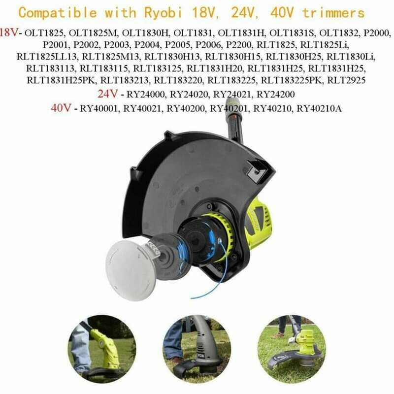 6 قطعة خط بكرة الانتهازي 2 قطعة غطاء ل Ryobi واحد AC14RL3A .065 18/24/40 فولت OLT 1825 1825 متر 1830H 1831 1831H 1831S RY 24000