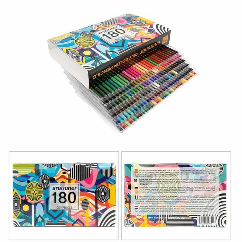 160/180 Kawaii الألوان المهنية النفط مجموعة أقلام رصاص ملونة رسومات فنية رسم الخشب قلم رصاص للمدرسة طالب الهدايا الفن لوازم