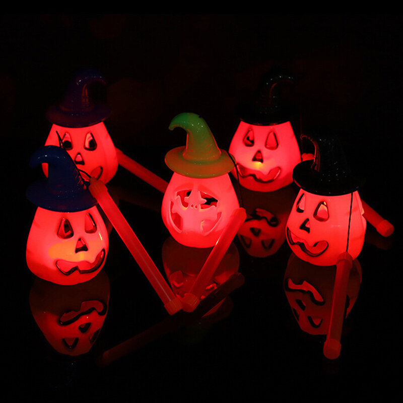 1 قطعة المحمولة هالوين اليقطين LED شنقا فانوس ضوء مصباح مع الموسيقى حزب بار الدعائم خدعة أو علاج هالوين زينة
