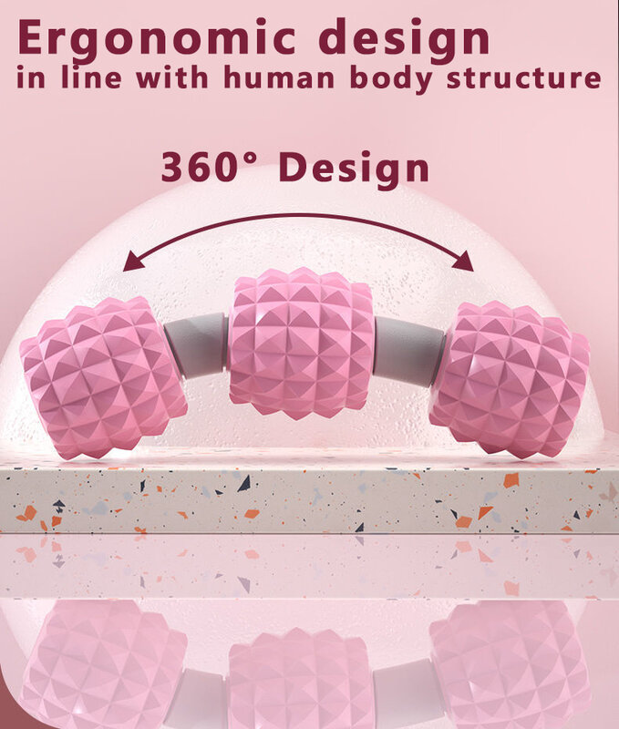 360 ° شكل الساقين التخسيس مدلك ، عالية الجودة السيلوليت تدليك الأسطوانة ، ثلاثية الأبعاد 8 عجلات الساق و العجل مدلك