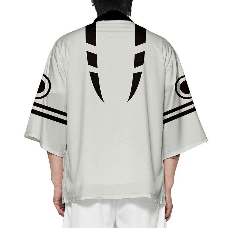 أنيمي Jujutsu Kaisen كيمونو سترة ريومين سوكونا إتادوري يوجي تأثيري ثلاثية الأبعاد طباعة اليابانية هاوري يوكاتا معطف بارد الشارع الشهير