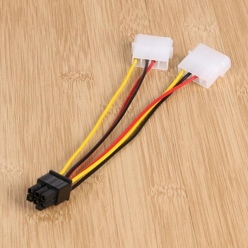3 قطعة 4pin إلى 6pin خط الطاقة ide إلى PCI اكسبرس بطاقة الفيديو Pci-e ATX PSU محول طاقة كابل المزدوج موليكس إلى Pcie 6pin محول