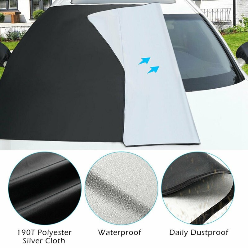 المغناطيسي ظلة الثلوج درع غطاء الشتاء قناع غطاء سيارة الجبهة الزجاج الأمامي نافذة أمامية غطاء عالمي السيارات الثلوج يغطي
