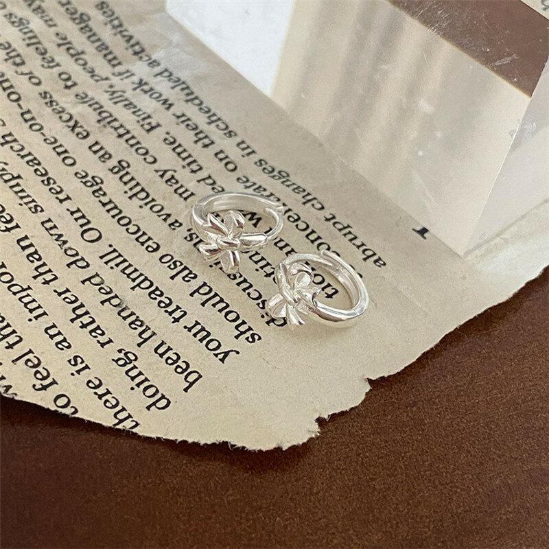 العصرية 925 فضة Bowknot الأذن ثقب أقراط للنساء المشاركة مجوهرات الزفاف هدية eh1336