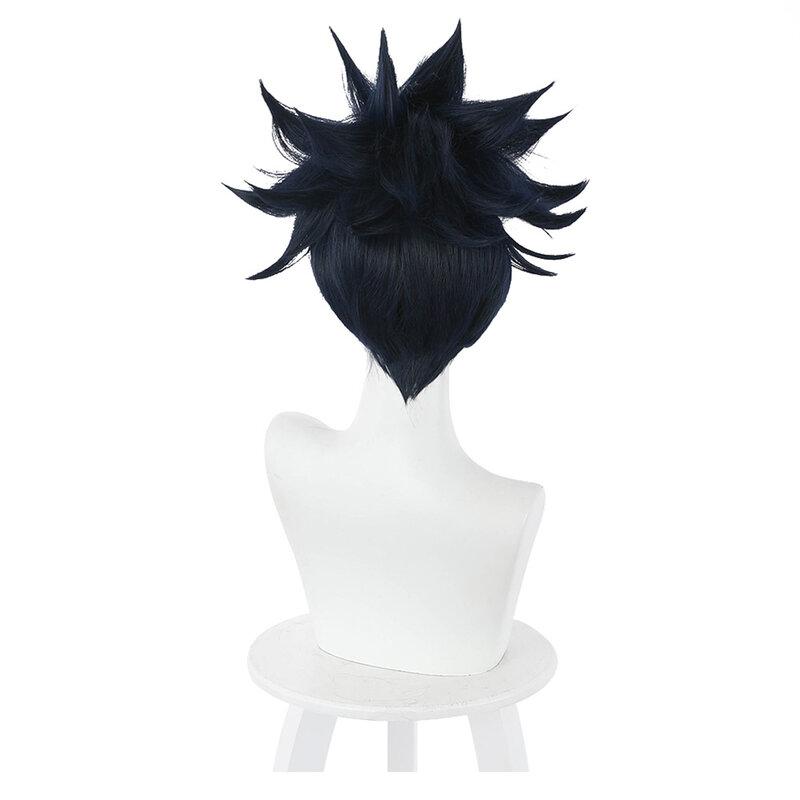 33 سنتيمتر أنيمي Jujutsu Kaisen Megumi Fushiguro شعر مستعار تأثيري مقاومة للحرارة الاصطناعية الشعر كرنفال هالوين حفلة الدعائم
