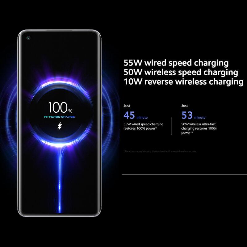 هاتف شاومي Mi 11 إصدار 5G هاتف ذكي مزود بكاميرا سناب دراغون 888 بدقة 108ميجا بكسل وشحن سريع بقدرة 55 وات وشاشة AMOLED بقدرة 4600 مللي أمبير في الساعة NFC 120 ه...