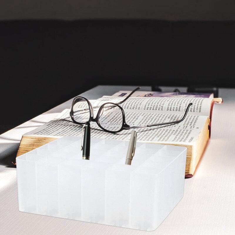 4 قطعة علامة القلم تخزين حامل عملي سطح المكتب القلم حاوية صندوق القلم