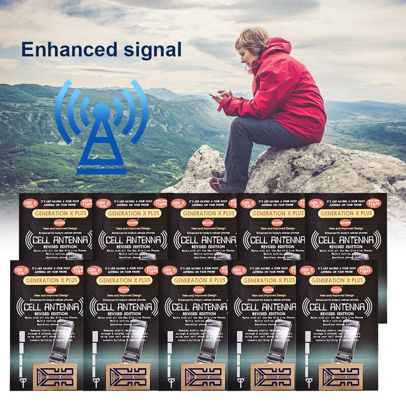 10 قطعة في الهواء الطلق الهاتف المحمول إشارة تعزيز الجنرال X هوائي الداعم تحسين ملصقات التخييم أدوات دروبشيبينغ