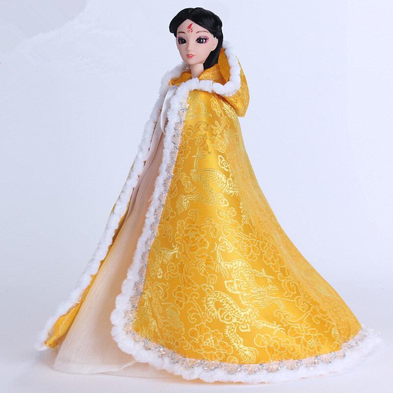 فستان دمية ، زي صيني ، كيب ، ملابس عرقية مطرزة ، فستان فتاة ، إكسسوارات دمية BJD 30 سنتيمتر