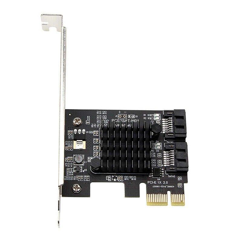 عالمي PCIe PCI Express إلى 6Gbps SATA 3.0 2-Port SATA III ورق مقوى التوسع محول صغير قوس PCIE بطاقة التوسع