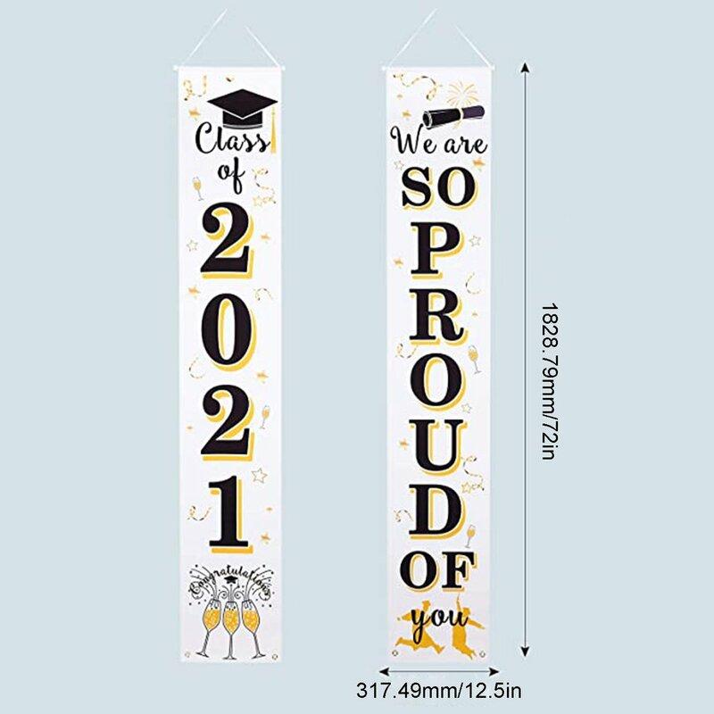 التخرج الشرفة علامات 2021 زينة التخرج لافتة موقع تهنئة راية فخور جدا منك تسجيل أعلام معلقة