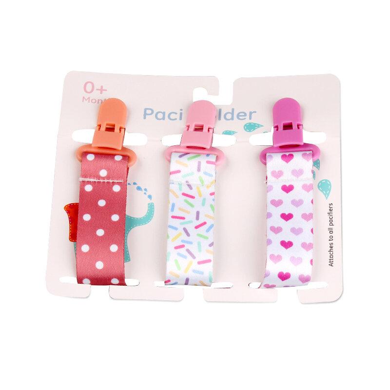 3 قطعة/المجموعة الطفل مشابك مصاصة للرضع هوة سلسلة الدمية كليب الحلمة حامل لحلمات الأطفال هوة كليب