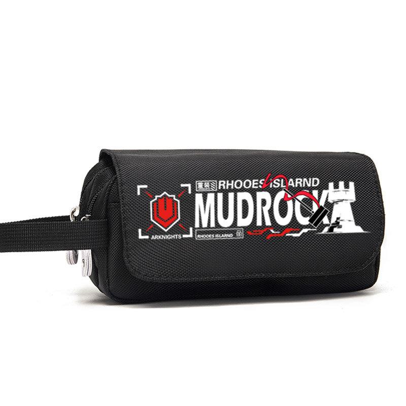 لعبة الفرسان Exusiai تشن Amiya Mudrock صندوق القلم قلم حقيبة القرطاسية موضة طالب عالية السعة مقلمة حقيبة التخزين