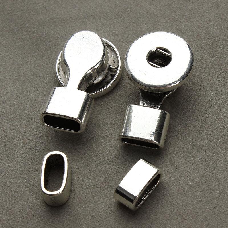 مجموعة من 5 مشابك وسبائك فضية اللون ، موصلات ثقب داخلي 10*5 مللي متر لصناعة الأساور والقلائد والمجوهرات