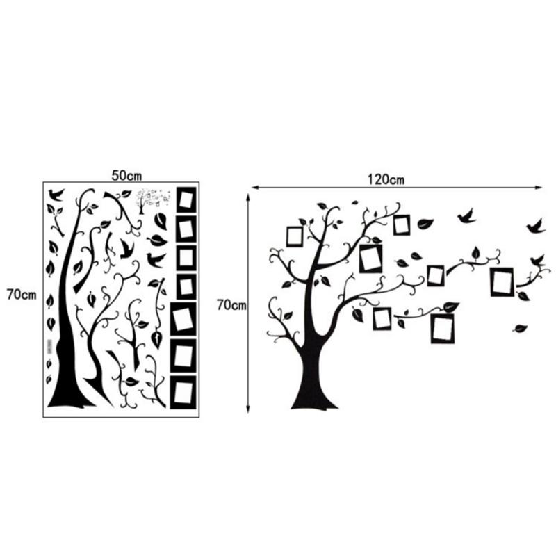 أسود ثلاثية الأبعاد لتقوم بها بنفسك ملصقات جدار جدارية الفن غرفة المعيشة الأسرة صورة شجرة بولي كلوريد الفينيل صور مطبوعة للحوائط ذاتية اللص...