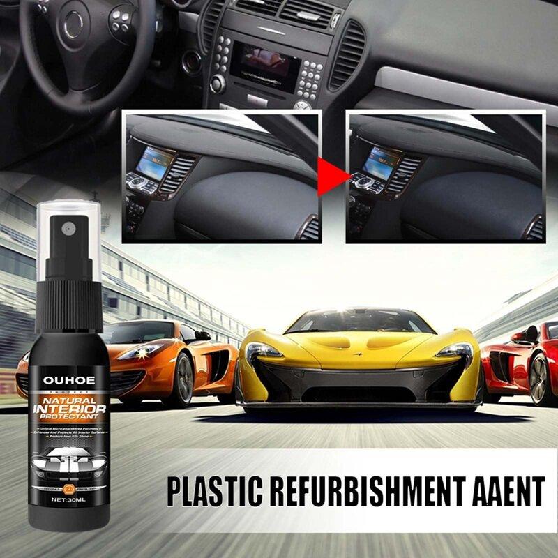 30 مللي/120 مللي حماية السيارة الداخلية رذاذ السيارات البلاستيك المطاط الرعاية تجديد وكيل البلاستيك الترميم تلميع طلاء الشمع