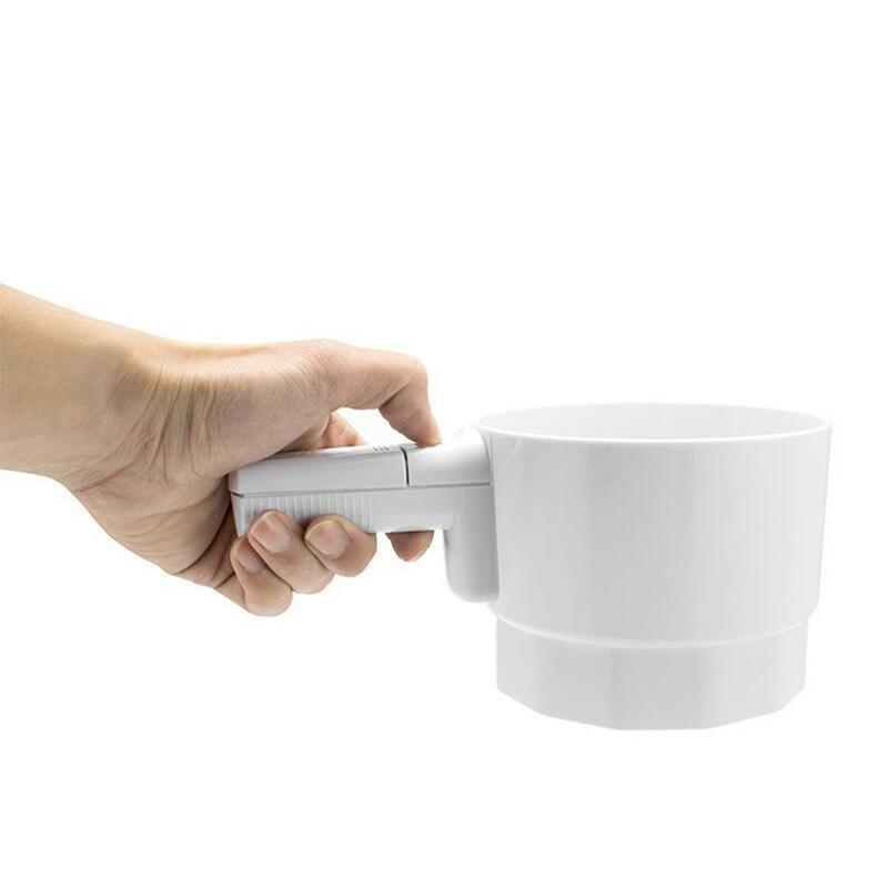 الكهربائية المحمولة الدقيق شاكر شبكة بلاستيكية غربال كأس الجليد السكر مسحوق الكاكاو غربال كعكة خبز أداة اكسسوارات المطبخ