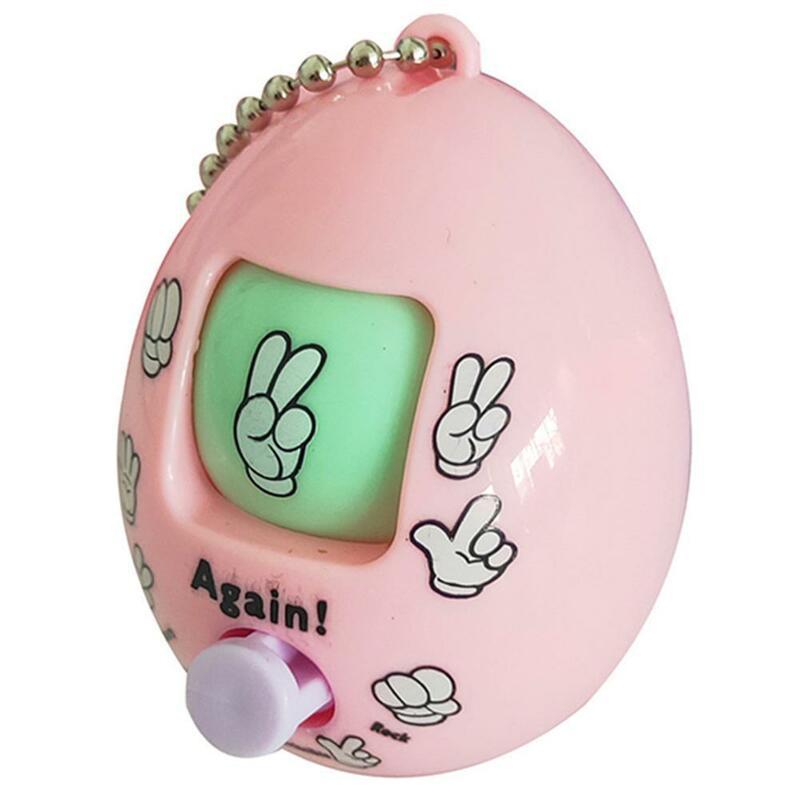 سلسلة مفاتيح على شكل بيضة ، مقص ورقي ، لعبة ممتعة ، قلادة ، لعبة موري