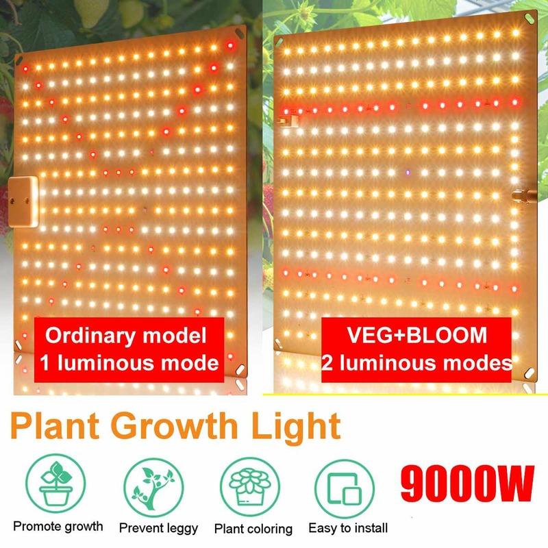 تنمو ضوء 9000 واط مصباح الطيف الكامل LED ضوء النبات الكم داخلي البيوت الزجاجية الزهور فيتو تنمو خيمة الإضاءة