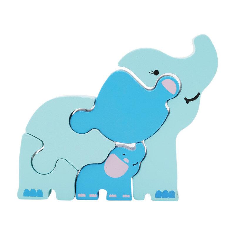 ألعاب خشبية ثلاثية الأبعاد على شكل حيوانات للأطفال ، ألغاز تعليمية للأطفال من سن 2 إلى 4 سنوات ، مجموعة جديدة