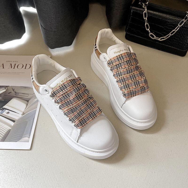 أحذية رياضية بيضاء أحذية نسائية موضة 2021 أحذية مفلكنة للسيدات ذات نعل سميك أحذية رياضية للسيدات من Zapatos Mujer