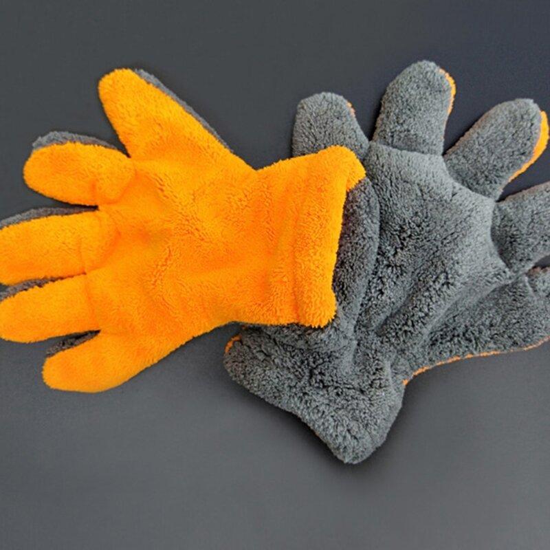 الرعاية قفازات لينة ستوكات لينة تنظيف أداة رمادي برتقالي رقيق الألياف لينة قفازات مقاومة الكيميائية قفازات 85AC